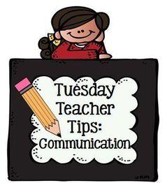 Tuesday Teacher Tips: Communication at Fern Smith's Classroom Ideas and Teach123 including #Freebies