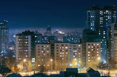 Fondo de Pantalla de Edificios, Noche, Ciudad, Apartamentos, Vidas