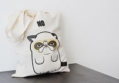 "Jutebeutel // Tote bag ""Grumpy Cat"" by Canufactum via DaWanda.com"
