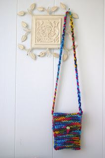 knitted purse I made for Raven
