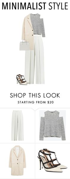 """Minimalist"" by waila-3 ❤ liked on Polyvore featuring mode, Iris & Ink, Zara, MANGO, Valentino, women's clothing, women, female, woman en misses"
