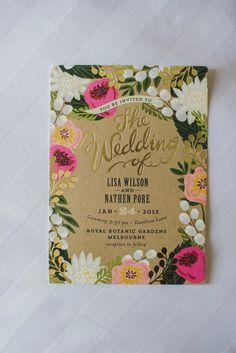 #rcrealbride Lisa + Nathan's Melbourne garden wedding!