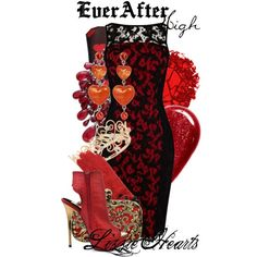 Ever After High : Lizzie Hearts Ever After High, Monster High, Disney Outfits, Cute Outfits, Disney Dresses, Cute Fashion, High Fashion, Lizzie Hearts, Themed Outfits