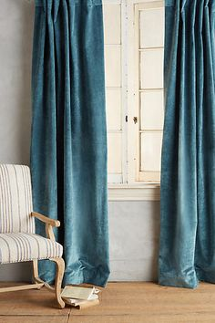 Teal outer curtain - Slub Velvet Curtain - http://www.anthropologie.com/anthro/product/home-curtains/35549922.jsp?color=099#/