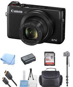 Canon PowerShot G7 X Digital Camera With 20.2MP ! NEW SELFIE BUNDLE #Canon