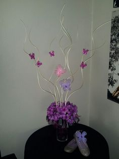 Butterfly centerpiece created by Veronica