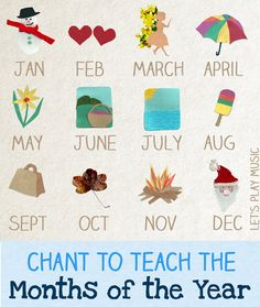 Catchy chant to teach the Months of the Year