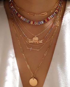 Nail Jewelry, Trendy Jewelry, Cute Jewelry, Jewelry Trends, Gold Jewelry, Jewelry Accessories, Fashion Jewelry, Gold Necklaces, Beaded Jewelry Designs