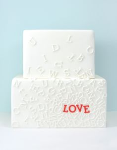 Love letters cake by Eat Cake Be Merry. where was this when i need grooms cake inspiration! Pretty Cakes, Beautiful Cakes, Amazing Cakes, Beautiful Boys, Bee Cakes, Gateaux Cake, Engagement Cakes, Engagement Celebration, Piece Of Cakes