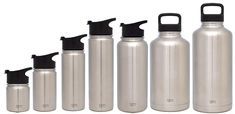 Simple Modern 14 Ounce Summit Water Bottle - Travel Mug Stainless Steel Tumbler Flask Lids - Wide Mouth Double Wall Vacuum Insulated Silver Leakproof -Simple Stainless Fishing Storage, Flask, Tumbler, Vacuums, Water Bottle, Stainless Steel, Mugs, Simple, Modern