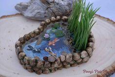 Miniature Pond Fairy Garden Pond Miniature by PennysPixiePlanters