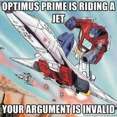Optimus Prime, the hero of auto insurance. #moremoneymorefun