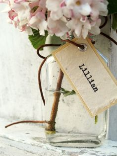 Unique Wedding Place Card Favor The Lillian by joblake on Etsy