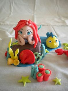 fondant little mermaid