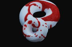 Vampire's Blood Donut Bath Bomb, bath bomb, bathbomb, vampire, scary, spooky, bath, halloween, halloween bath bomb, fall, blood, donut by SnazzieBombs on Etsy