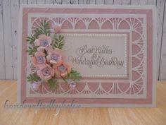 Handcrafted by Helen: Belgian Background feminine card