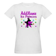 Dazzling personalized Figure Skating design on Tees and gifts from www.cafepress.com/sportsstar for the Figure Skating Queen #Figureskate #Ilovefigureskating #Iceprincess #Figureskater