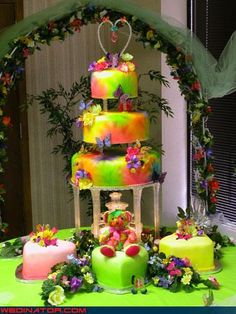 Highlighter cake decorating...
