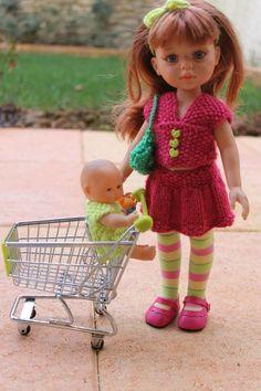 When Lilou goes shopping ... (+ tutorials), Tuto jupe et haut en tricot pour Paola Reina-Les Chéries-H4H