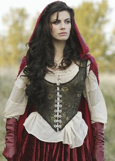 """Meghan Ory as """"Little Red"""" from """"Once Upon a Time"""" / Scene from Season 1, Episode 10, titled """"7:15 A.M."""" 