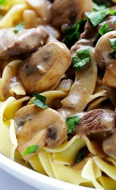 This 30-minute easy beef stroganoff recipe is comfort food at its best~