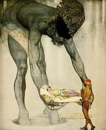 Willy Pogany | Tales of the Persian Genii, 1917