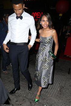 Kerry Washington made a rare appearance with her husband Nnamdi Asomugha at...