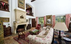 Laura Ashley's house: The sitting room; among guests were Margaret Thatcher andDiana, Princess of Wales