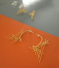 Gold Crosshatch Arch Earrings Arch, Fine Jewelry, Hair Accessories, Gallery, Earrings, Gold, Ear Rings, Longbow, Stud Earrings