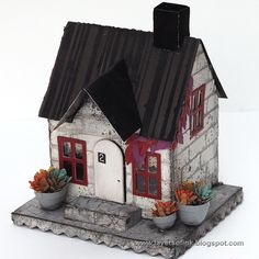 Decorate For The Fall With This Village Dwelling...And Add Some Spook For Halloween