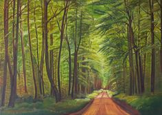 """oil painting """"forest road"""""""