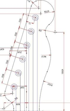 Resultado de imagem para headstock plans guitarra telecaster