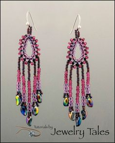 Free Mardi Gras Earrings Pattern by Cynthia Newcomer Daniel - Jewelry Tales featured in Bead-Patterns.com Newsletter!