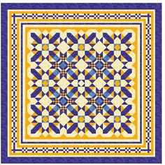 The Road to Brenham - Free Pattern - Quilt Along - The finished size of the quilt will be 96″ x 96″.