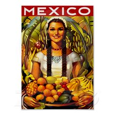 Vintage Mexico Travel Advertisement Posters