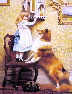 Charles Burton Barber A Little Girl and her Sheltie painting is shipped worldwide,including stretched canvas and framed art.This Charles Burton Barber A Little Girl and her Sheltie painting is available at custom size. Maurice Denis, Munier, Rough Collie, Collie Dog, Shetland Sheepdog, Victorian Art, Oil Painting Reproductions, Dog Paintings, Sheltie