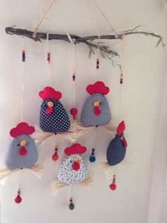 Kapı süsleri - Kapı süsleri The Effective Pictures We Offer You About sewing happiness A quality picture can te - Easter Crafts, Felt Crafts, Fabric Crafts, Sewing Crafts, Diy And Crafts, Christmas Crafts, Arts And Crafts, Fabric Fish, Fabric Birds