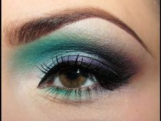 Makijaż: Więcej Koloru! BLue green eye make-up tutorial