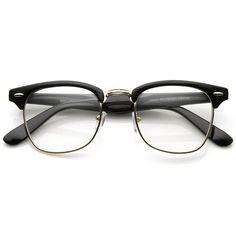 7c116c6f025 Amazon.com  FRAMEWORK - Vintage Inspired Classic Clubmaster Nerd Wayfarers  UV400 Clear Lens Glasses