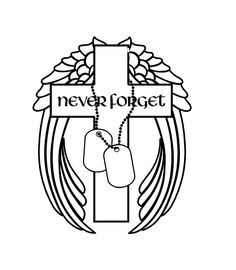 A personal favorite from my Etsy shop https://www.etsy.com/listing/540260437/never-forget-military-decal-cross-angel