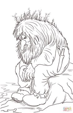 Norwegian Troll coloring page | SuperColoring.com