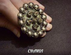 antique ring tribal fusion freepeople boho kuchi gypsy bellydance BANJARA afgani