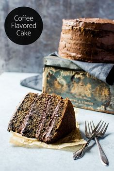 A moist and flavorful coffee flavored cake with a rich whipped mocha ganache. It& the perfect way to have your coffee and eat it too! Coffee Flavored Cake Recipe, Coffee Recipes, Coffee Cupcakes, Coffee Cake, Best Cake Recipes, Sweet Recipes, Favorite Recipes, Fun Desserts, Birthday Cakes