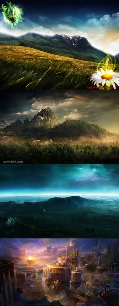 1000 images about fantasy landscape picture on pinterest - 2d nature wallpapers ...