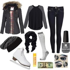"""""""Ice Skating Date Outfit"""" by ilovesinging462 on Polyvore"""