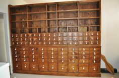 Antique Vintage Apothecary Cabinet Wood 99 Drawer Austrian Enamel Numbers Large | eBay