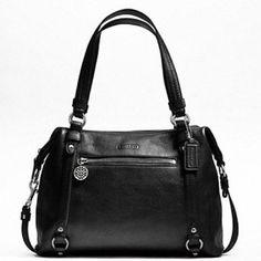 Leather Alexandra Black Shoulder Bag
