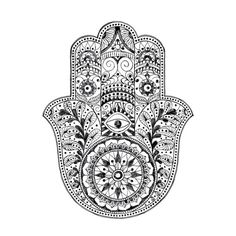 Hamsa - a Middle Eastern/North African symbol. The eye looks for evil and right hand over wards it off.