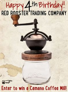 Camano Coffee Mill by Red Rooster Trading Company