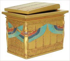 Sarcophagus box of King Tutankhamun, King Tutankhamun, King Tut, Egyptian statues, Egyptian gifts.